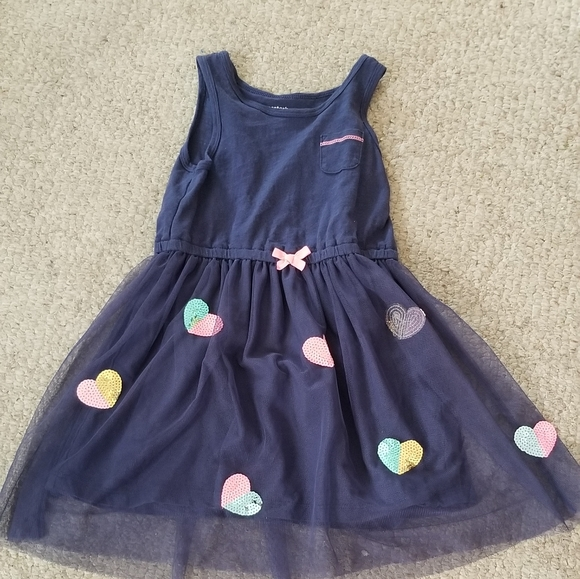 Carter's Kids Other - Girls T Shirt Dress With Tulle Skirt